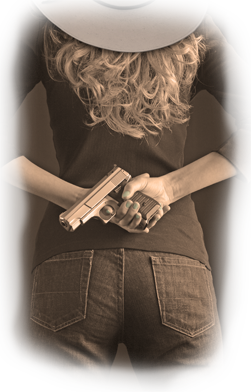 Izzy and her pretty little Glock